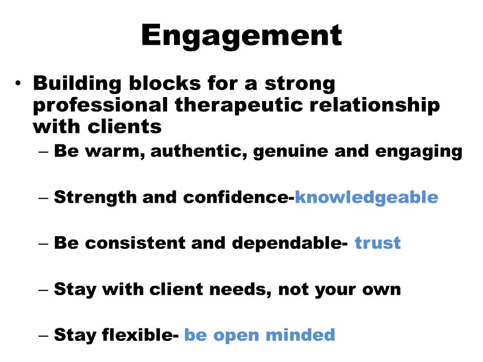 the engagement process the professional relationship kwabena