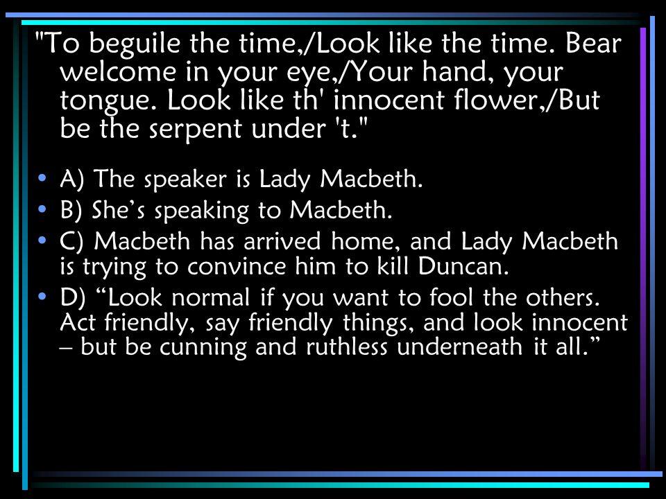 lady macbeth serpent quote