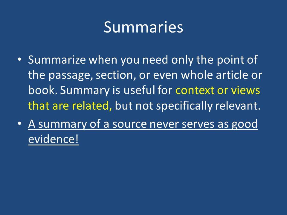 mla summary