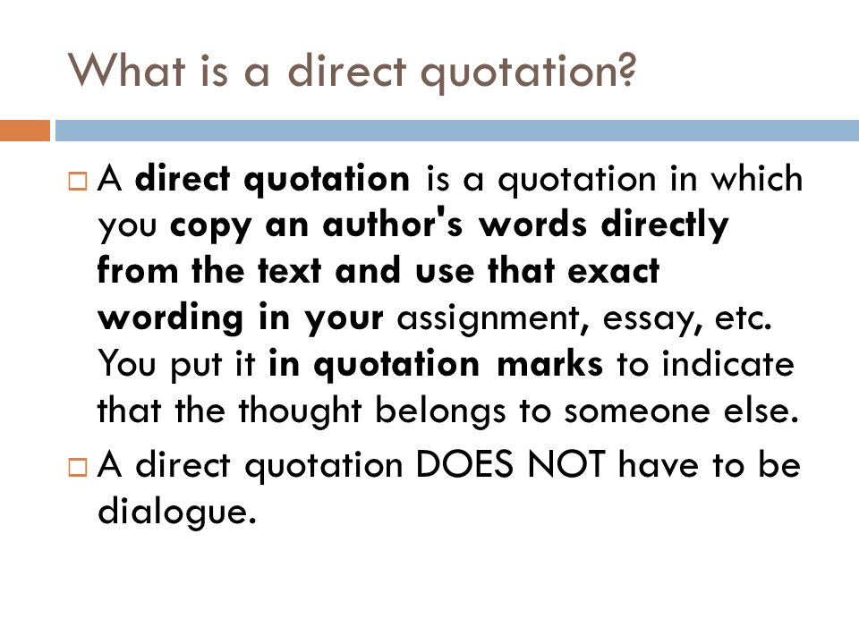 introducing direct quotations background notes what is a direct