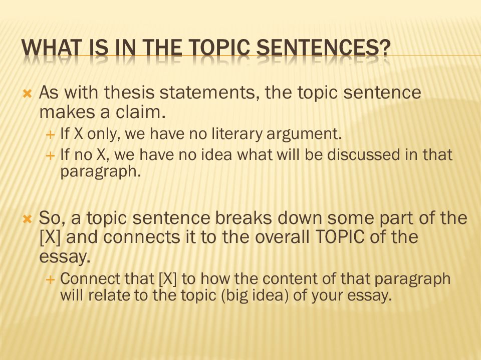  Introduction and Thesis:  States the argument.