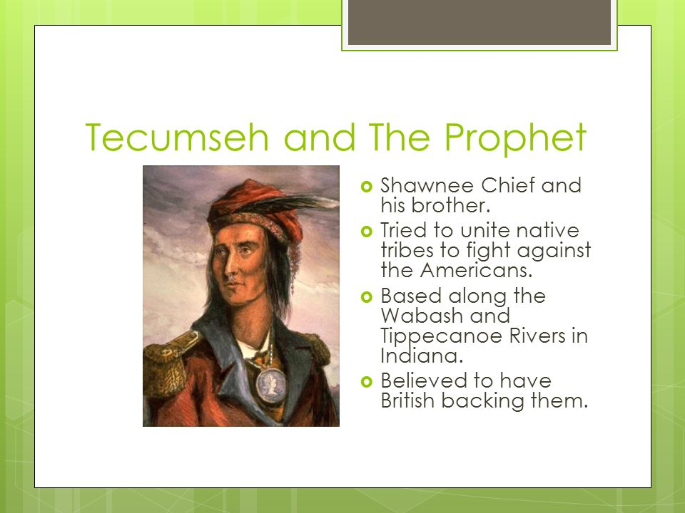 Tecumseh and The Prophet  Shawnee Chief and his brother.