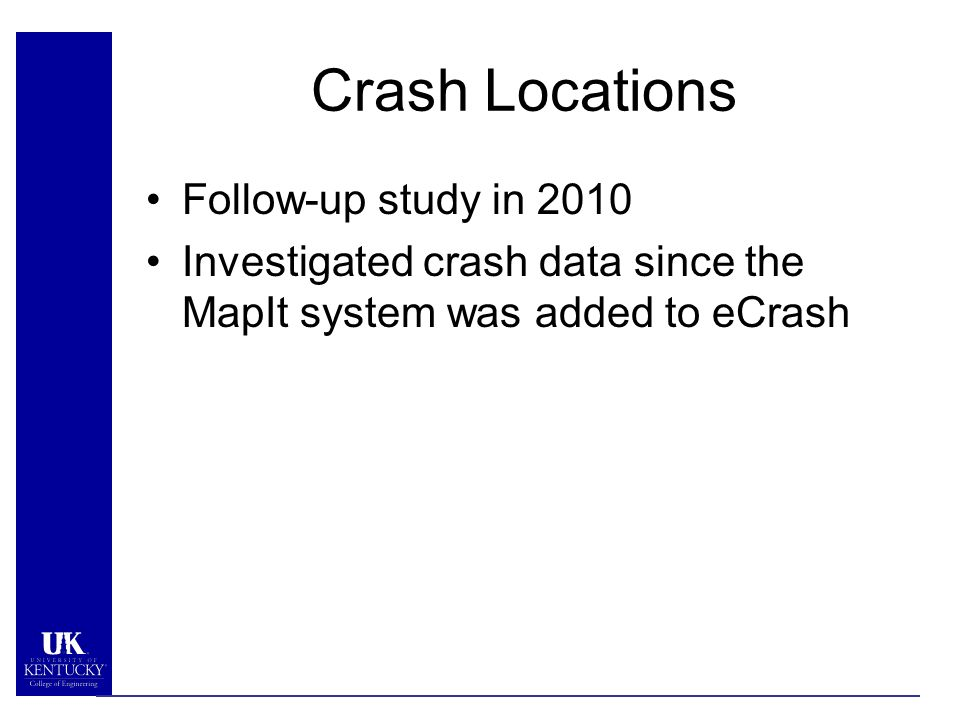 Crash Data: How Kentucky Improved Their System Eric Green