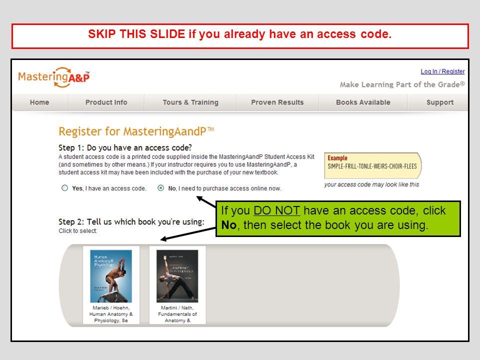 Registering for MasteringA&P™ - ppt download
