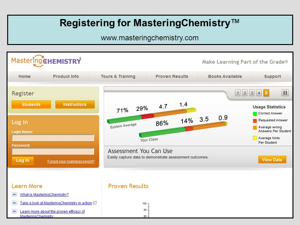 Registering for MasteringChemistry™