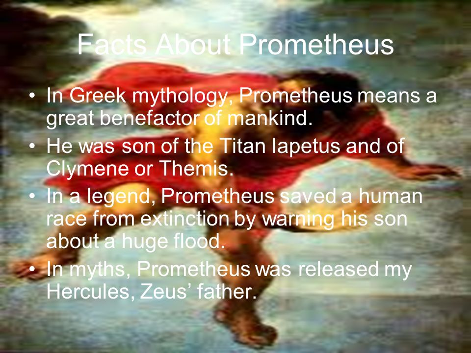 Prometheus The Fire Bringer By Characters In The Story