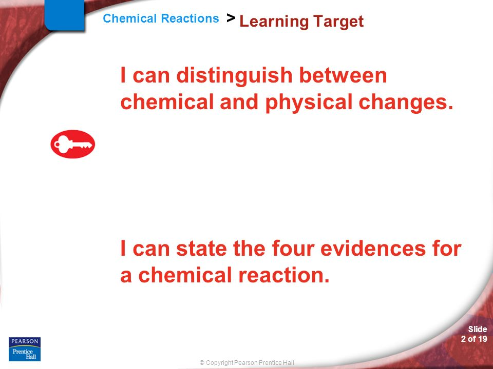 Slide 1 Of 19 Chemistry Copyright Pearson Prentice Hall