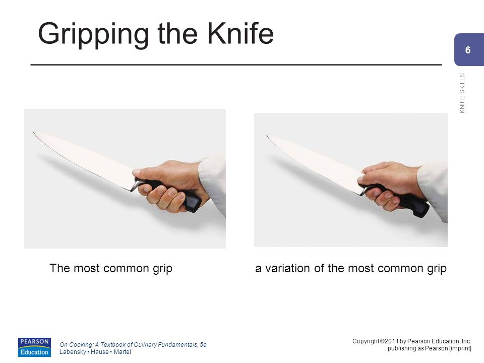 6 KNIFE SKILLS Copyright ©2011 by Pearson Education, Inc.