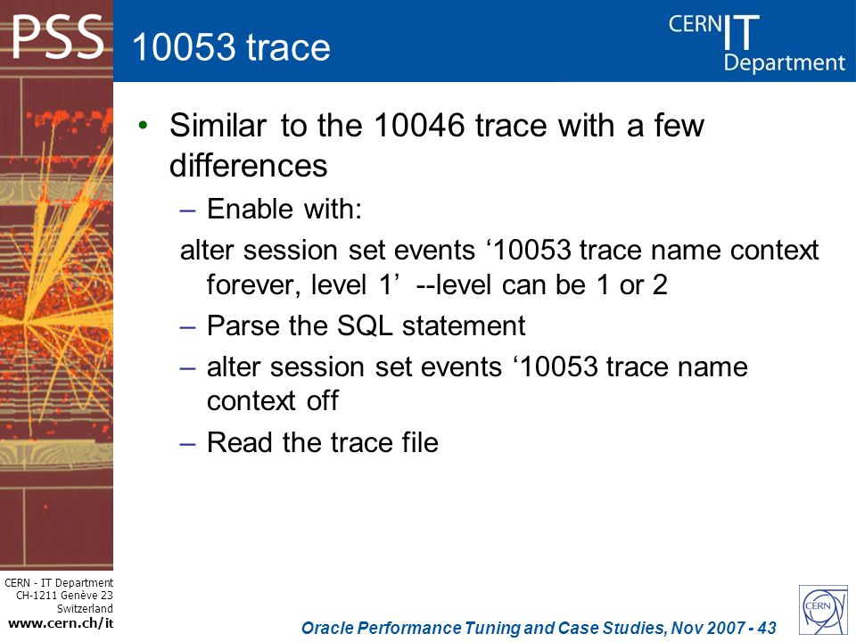 case study analyzing 10053 trace files