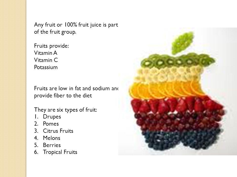 Simple fruit.