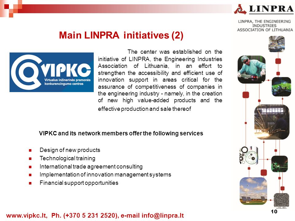 10 Main LINPRA initiatives (2)   Ph.