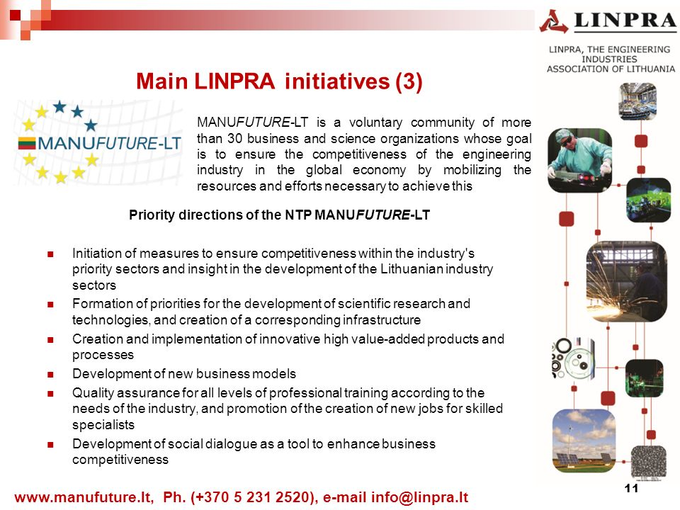 11 Main LINPRA initiatives (3)   Ph.