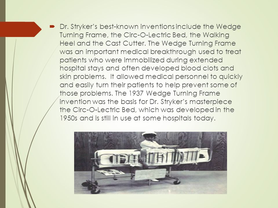 Striker Corp. Report.  Stryker Corporation was founded by Dr ...