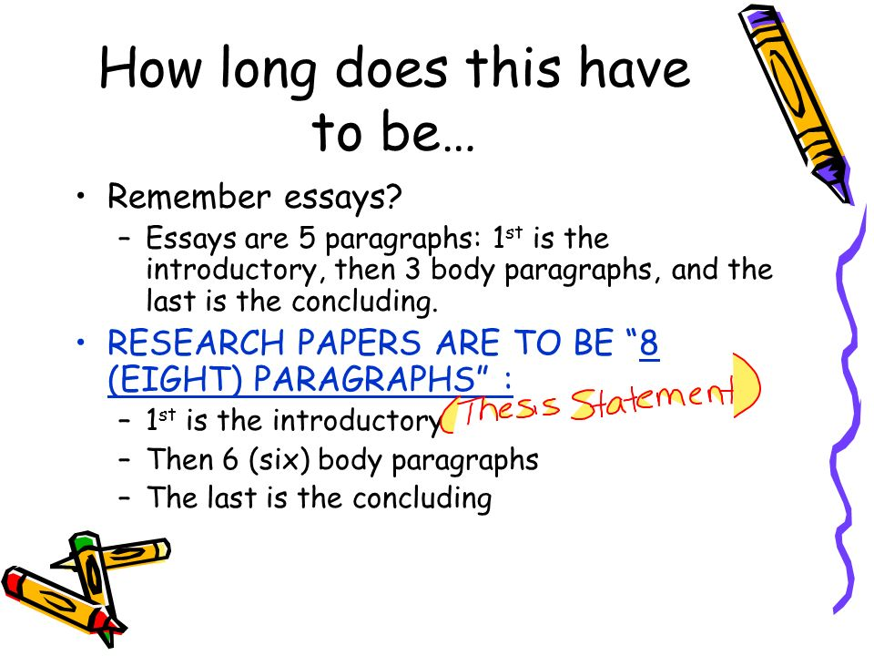 How Long Does A Research Paper Have To Be