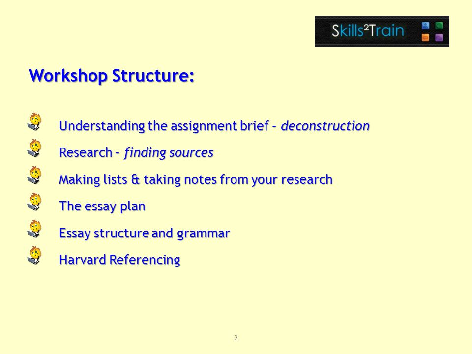 English Essay Structure  Deconstruction Research  Finding Sources Making Lists  Taking Notes  From Your Research The Essay Plan Essay Structure And Grammar Harvard  Referencing Graduating From High School Essay also High School Reflective Essay Examples Diploma In Teaching In The Lifelong Learning Sector Academic Writing  Thesis Statement For Education Essay