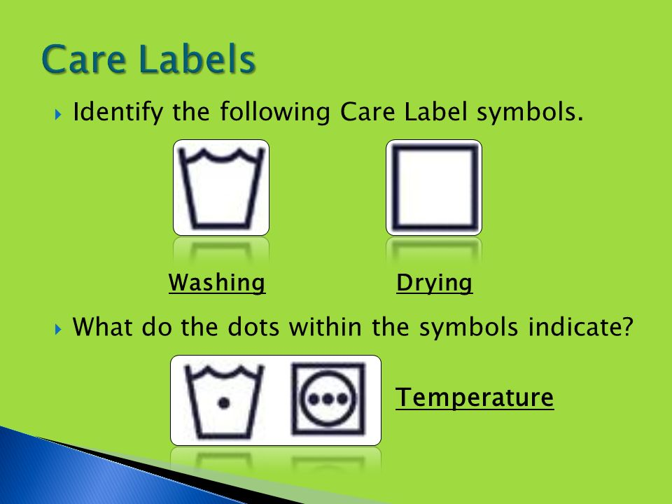Care Labels Sorting Stains Water Temperatures Washing