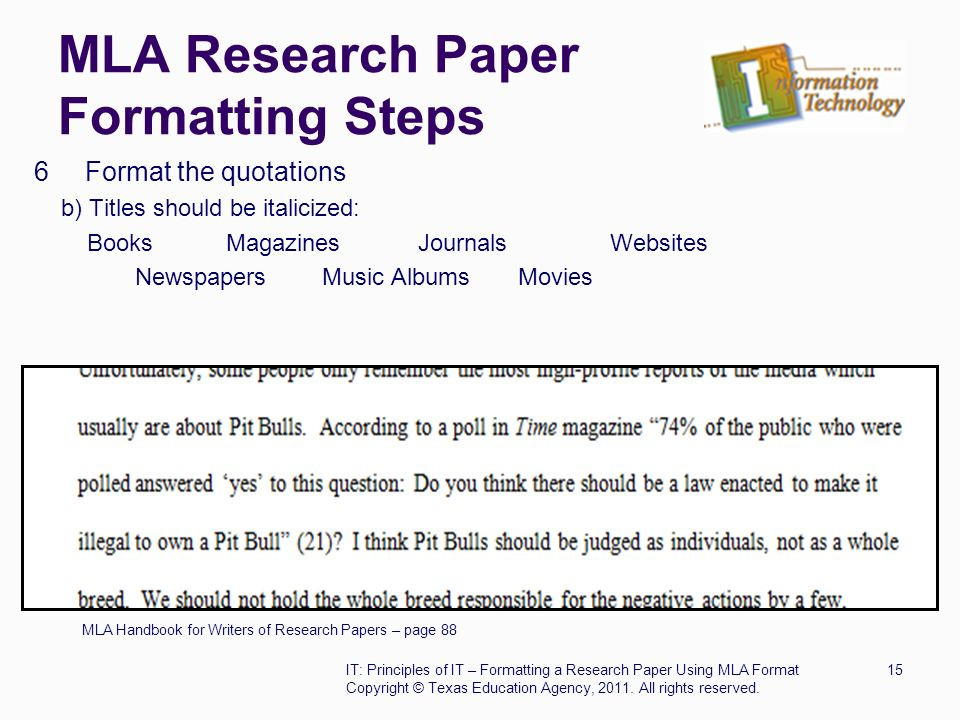 steps to writing a research paper mla style Mla style research paper refers to the research and writing style developed by the modern language association for writing research papers for disciplines and courses in humanities the mla style research paper has endorsed a research paper style which must be adhered to by every writer intending to write an academic research paper in humanities.