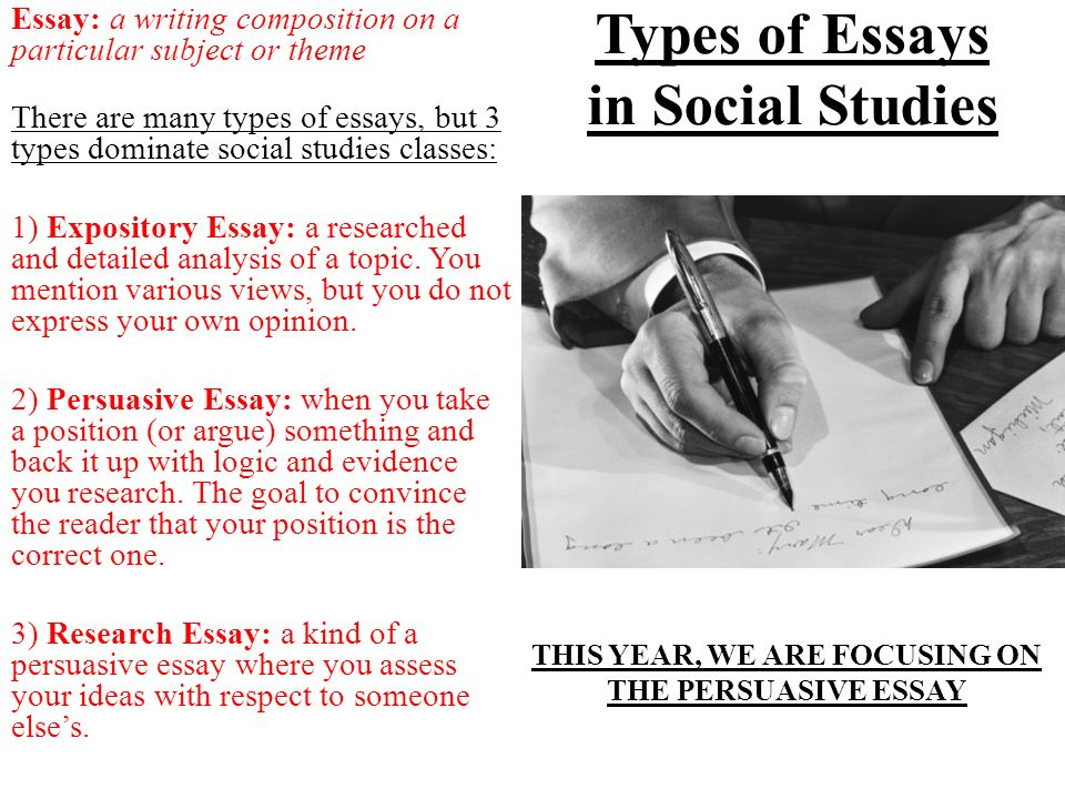 General English Essays Types Of Essays In Social Studies Essay A Writing Composition On A  Particular Subject Or Essay On Science And Religion also Thesis In Essay Writing A Social Studies Essay  Note Red  You Must Learn For Our  What Is A Thesis Statement For An Essay
