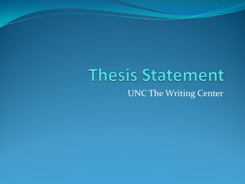 UNC The Writing Center