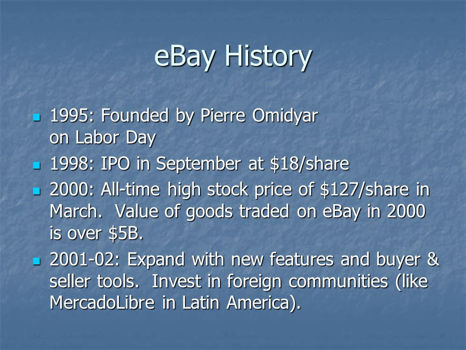 Ebay And Auctions Ebay Overview World S Largest Online Trading Community World S Largest Online Trading Community Current Number Of Users Approx Ppt Download