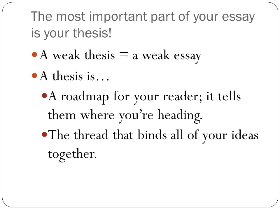 English 10 Thesis Statements 2 The