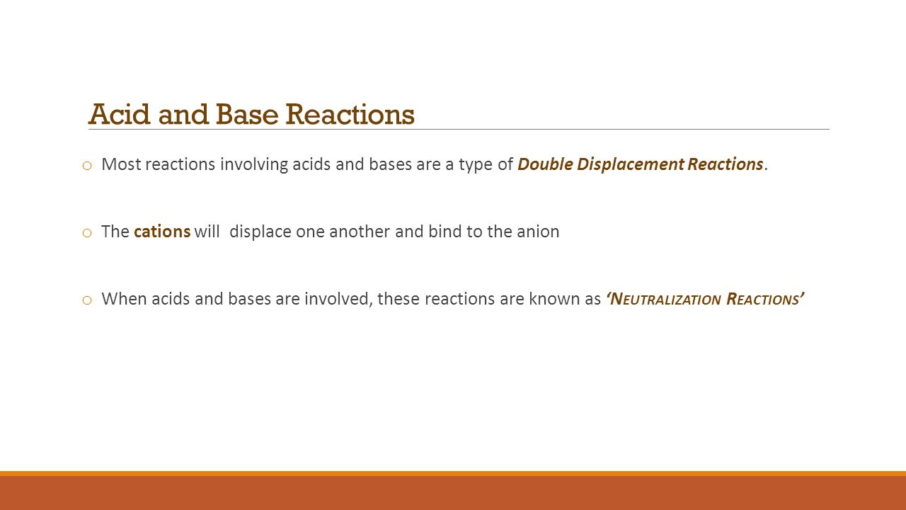 Section 6 3 Reactions Of Acids And Bases Snc2dp Mrs Franklin Ppt