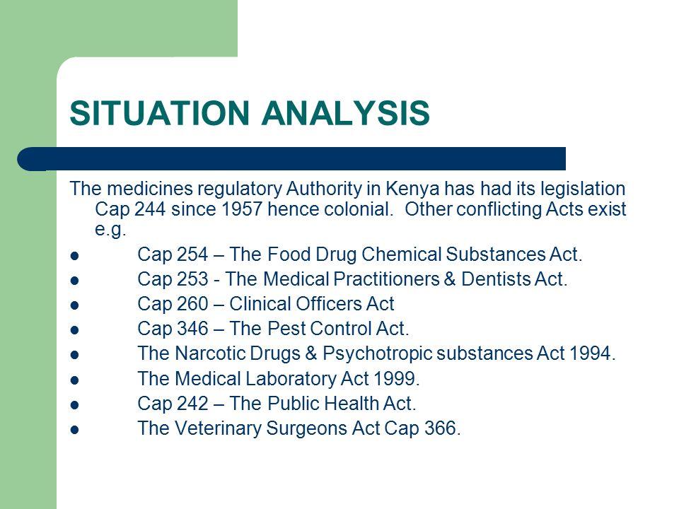 THE HIGHLIGHTS OF DRUG REGULATION IN KENYA  Presentation by