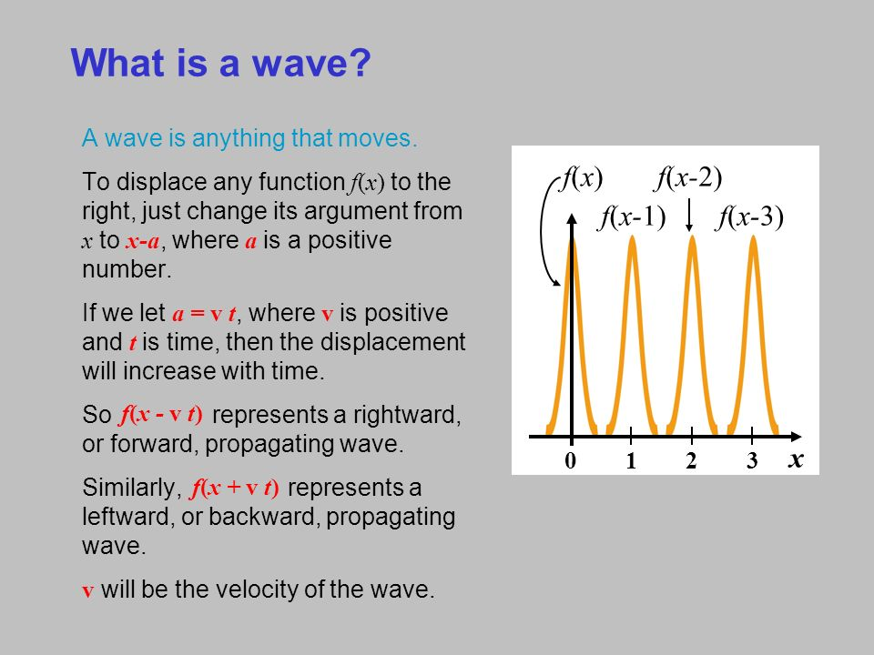 2  Waves, the Wave Equation, and Phase Velocity What is a