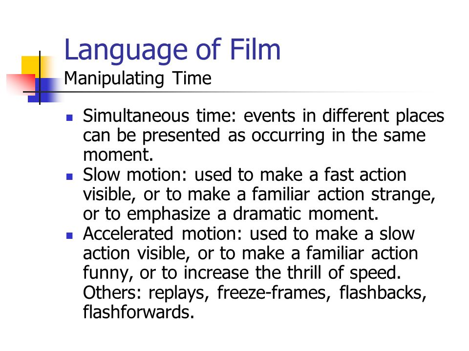 CA0932a Multimedia Development Lecture 11 Language of film and the ...
