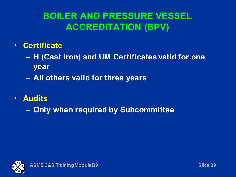 Asme Cs Training Module B9 Module B Process Submodules B1