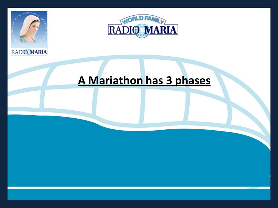 A Mariathon has 3 phases