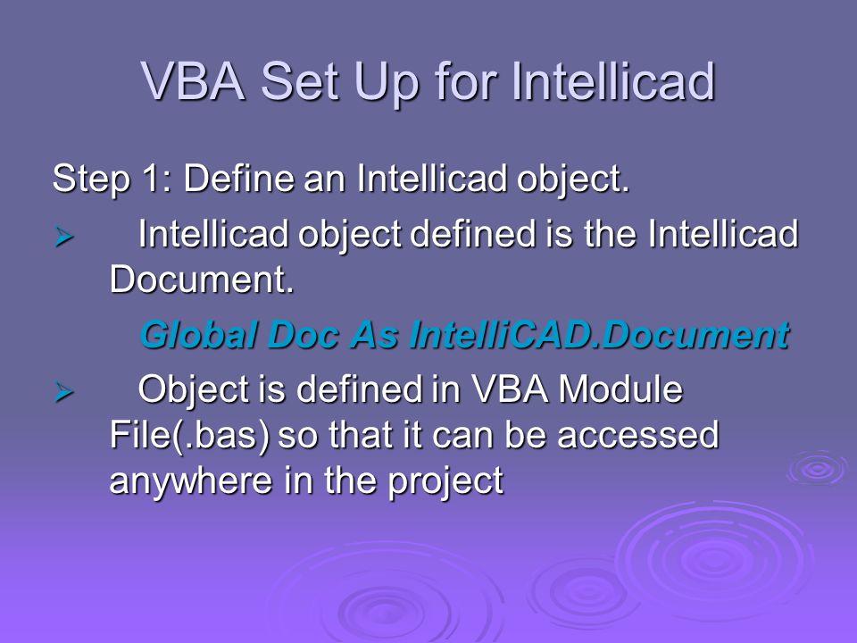 Intellicad Visual Basic Application Marian Kate Santos