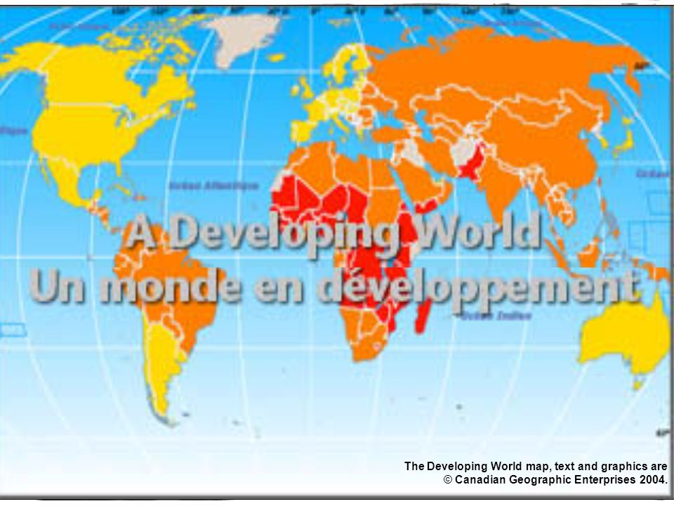 Canada making a difference in the world park view education centre 3 the developing world map text and graphics are canadian geographic enterprises 2004 gumiabroncs Images