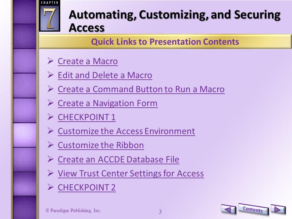 Paradigm Publishing, Inc Access 2010 Level 2 Unit 2Advanced