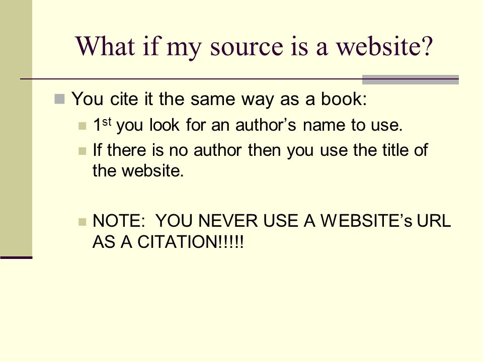 What if my source is a website.