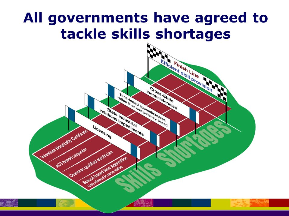 All governments have agreed to tackle skills shortages
