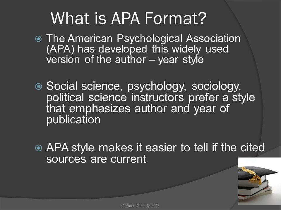 What is APA Format.