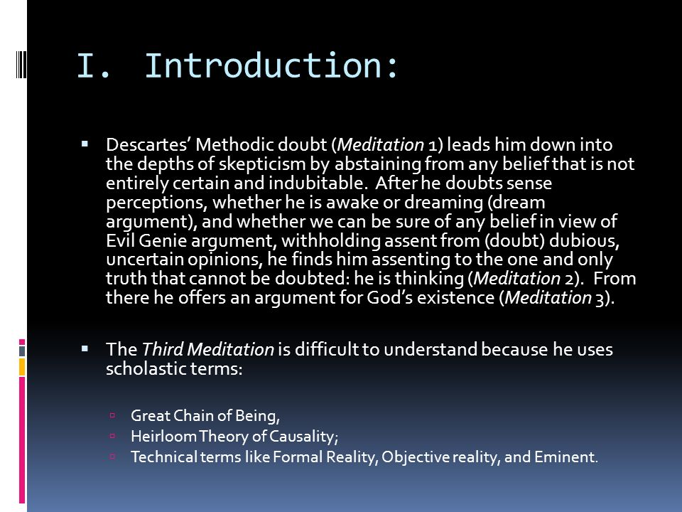 Descartes third meditation proof of gods