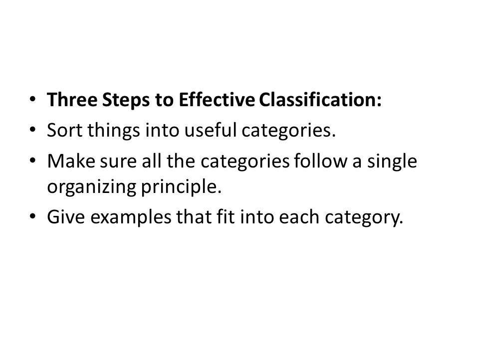 Examples Of An Essay Paper Three Steps To Effective Classification Sort Things Into Useful Categories Columbia Business School Essay also College Essay Thesis Classification Essay What Is A Classification Essay In A  Essay Writing Business