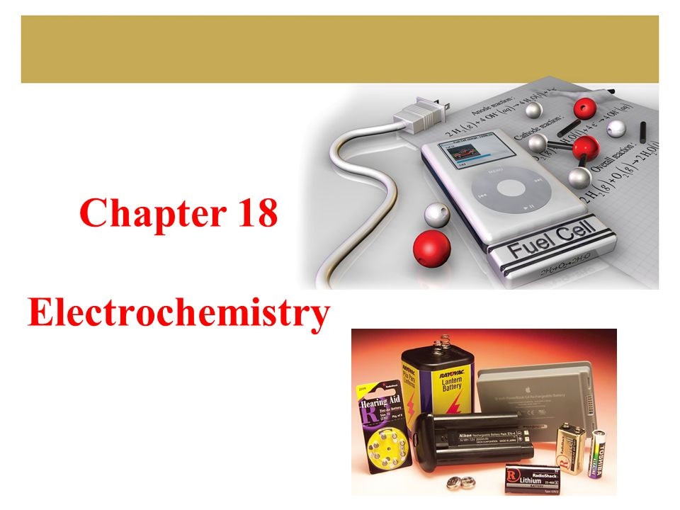 Chapter 18 Electrochemistry  2 GOALS Review: oxidation