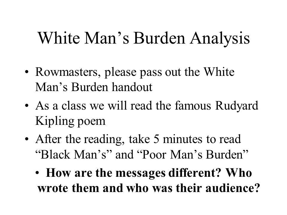 the black mans burden analysis