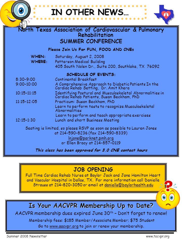 summer 2008 newsletterwww tacvpr org texas association of