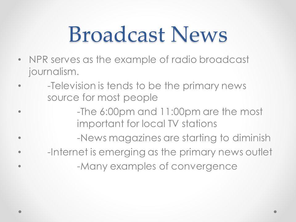 how to write a newscast