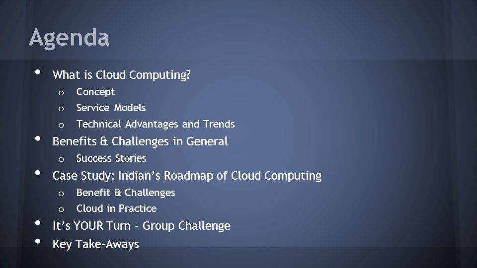 Agenda What is Cloud Computing.