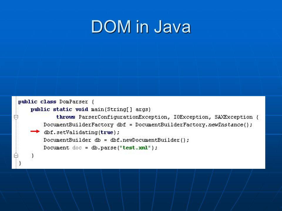 Java dom setvalidating