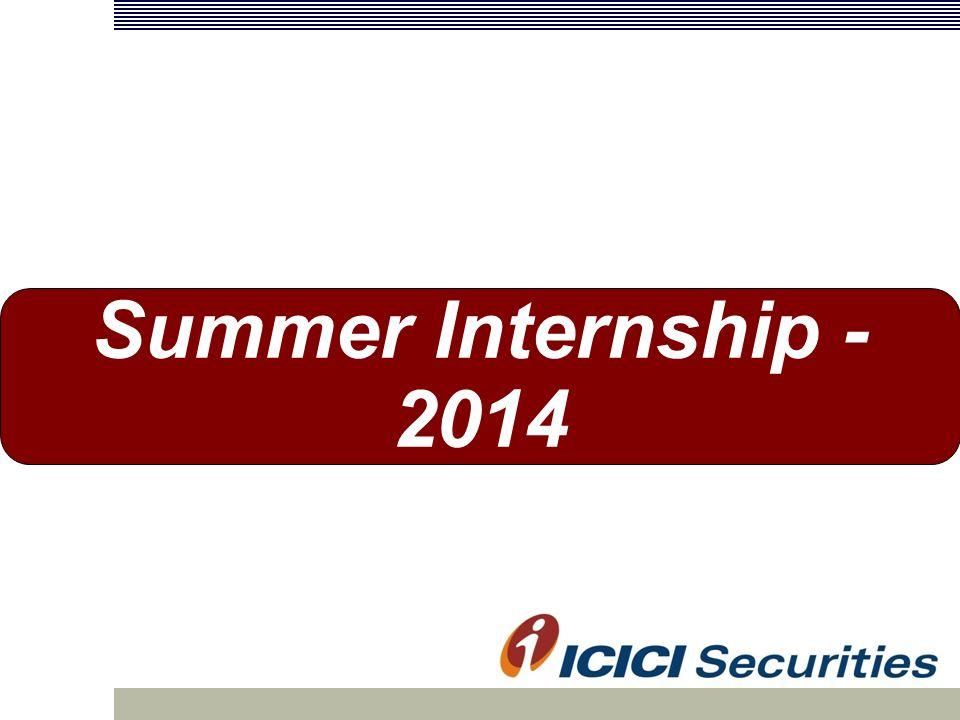 Summer Internship ICICI Group  India's 2nd largest bank
