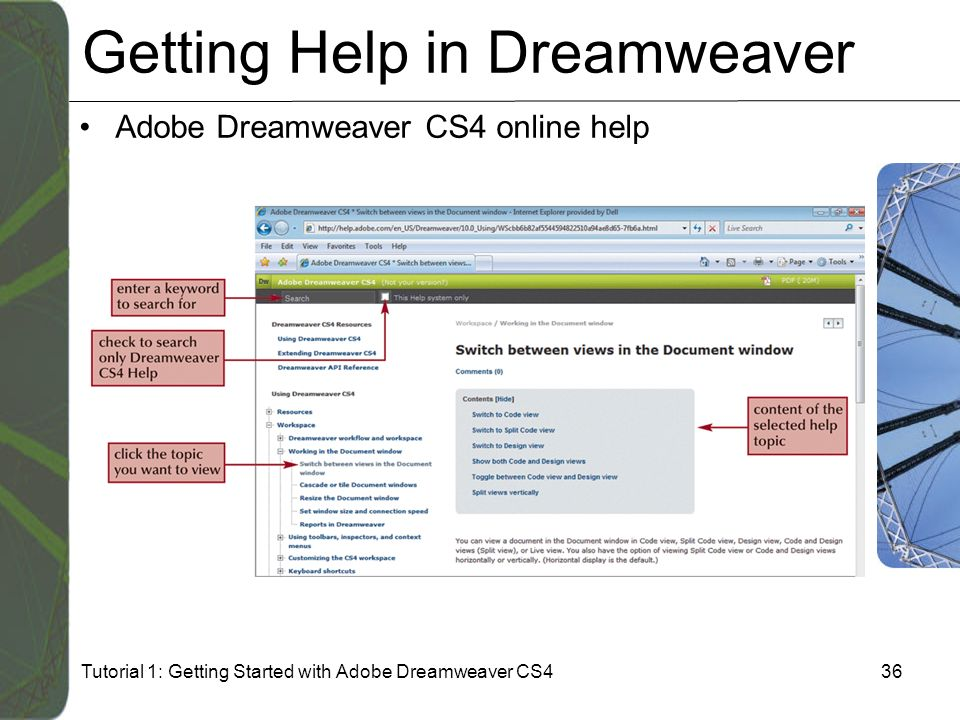 tutorial 1 getting started with adobe dreamweaver cs4 ppt download rh slideplayer com adobe dreamweaver cs4 tutorials for beginners adobe dreamweaver cs4 tutorials for beginners