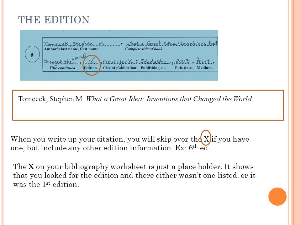 ex of bibliography