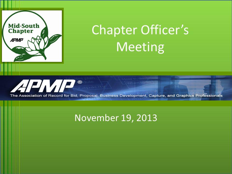 Chapter Officer S Meeting November 19 Agenda Opening