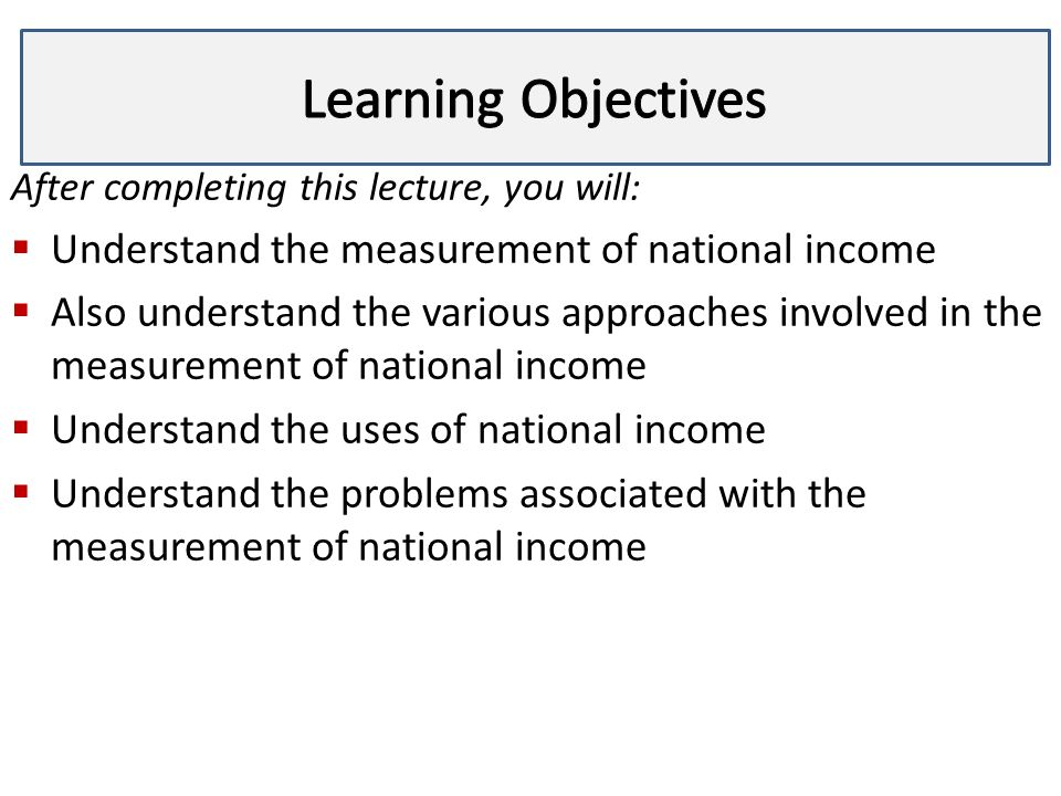 problems associated with measuring national income